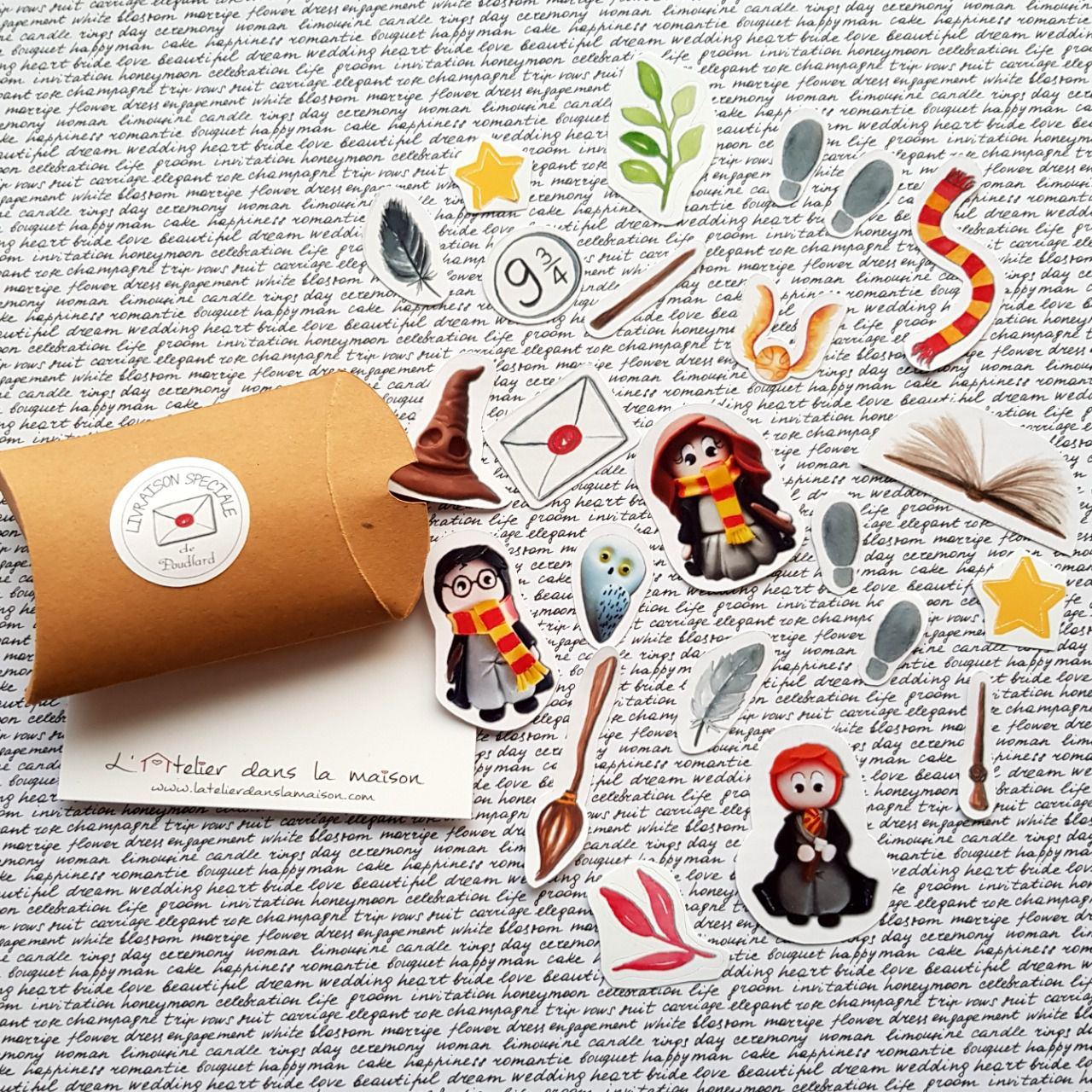 Boite de stickers inspiration Harry Potter