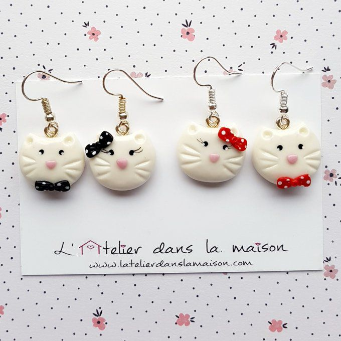 boucles chat noeuds papillons