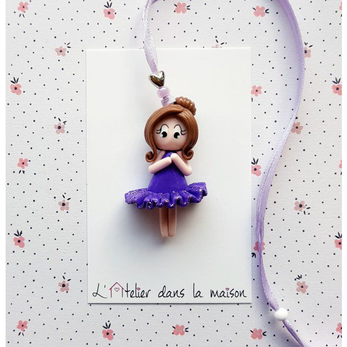 collier danseuse tons violet