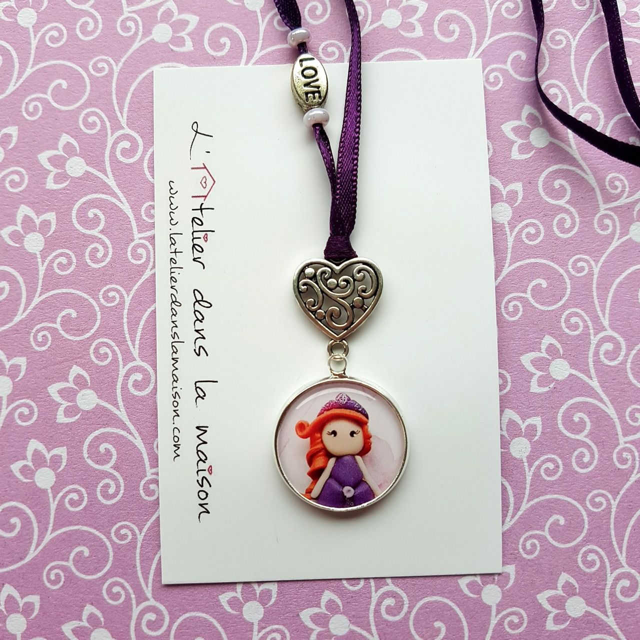 Collier princesse tons violets